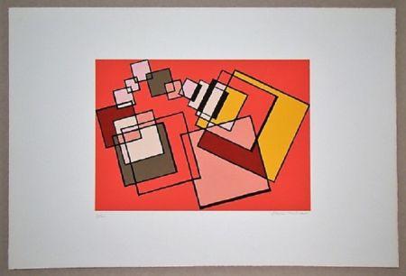 Litografía Radice - Compositione astratta rosa