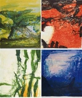 Litografía Zao - Compositions 398, 399, 400 & 401