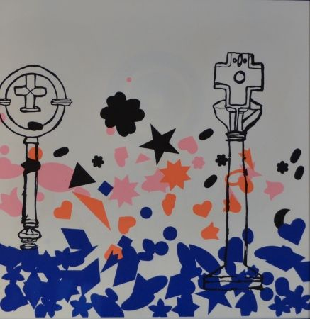 Litografía Baj - Composizione