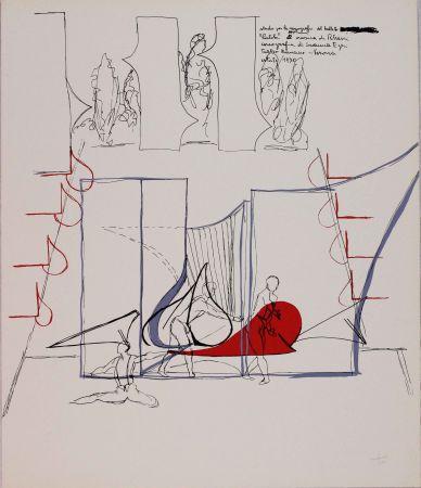 Litografía Bonalumi - Composizione