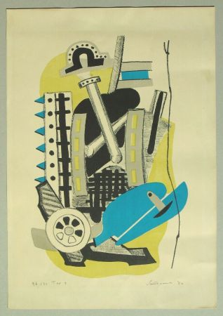 Litografía Santomaso - Composizione (c)