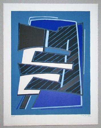 Litografía Magnelli - Composizione in Azzuro, 1965