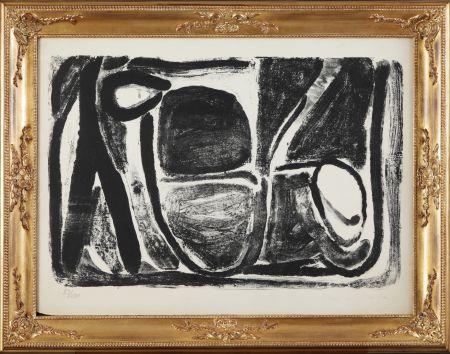 Litografía Van Velde - Composizione in bianco e nero