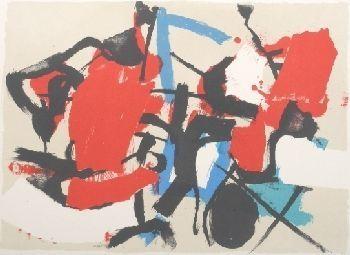 Litografía Afro - Composizione (Per Mann)