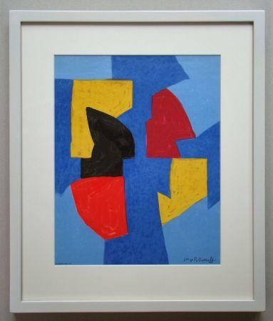 Litografía Poliakoff - Compsition bleue, rouge et jaune