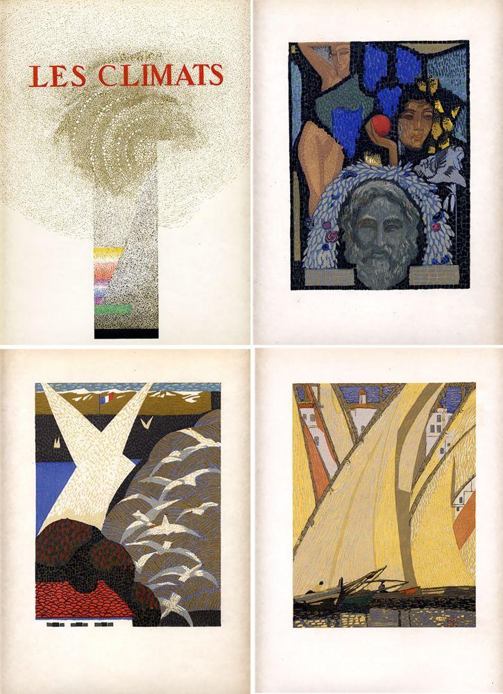 Libro Ilustrado Schmied - Comtesse de Noailles : LES CLIMATS. Société du Livre Contemporain (1924).