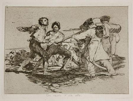 Grabado Goya - Con razón o sin ella