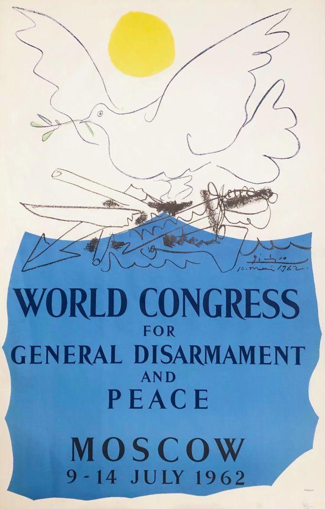 Litografía Picasso - Congrès pour la Paix