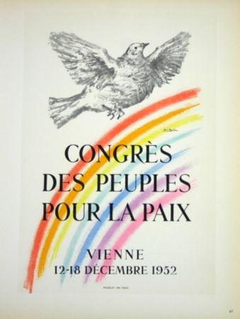 Litografía Picasso - Congrés des Peuples pour la Paix  1952