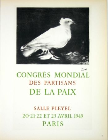 Litografía Picasso - Congrés Mondial de la Paix  Avril 1949
