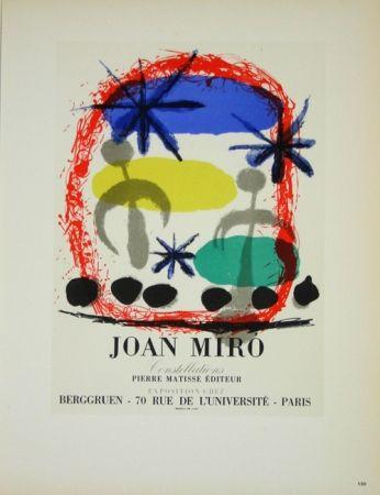 Litografía Miró - Constellation Galerie Berggruen