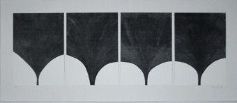 Serigrafía Lucien - Contrepoint en gris
