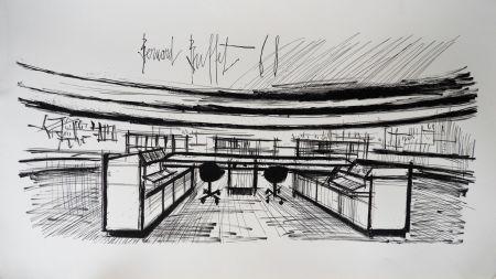 Litografía Buffet - Control Room, Siemens,