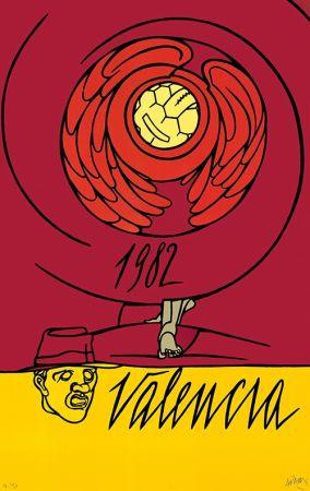 Litografía Adami - Copa del Mundo de Fútbol España 1982 - Valencia