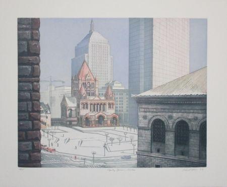 Aguafuerte Y Aguatinta Haas - Copley Square, Boston