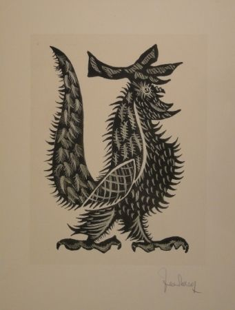 Litografía Lurcat - Coq