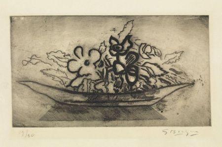 Aguatinta Braque - Corbeille de fleurs