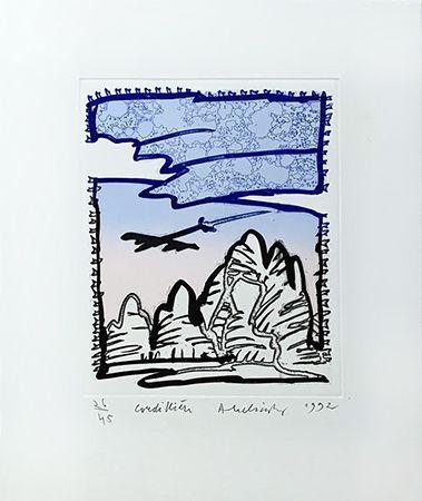 Grabado Alechinsky - Cordilliere