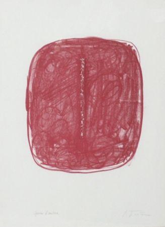 Litografía Fontana - Corrente (Rosso)