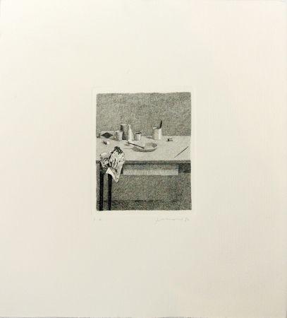 Grabado Ferroni - Cose sul tavolo