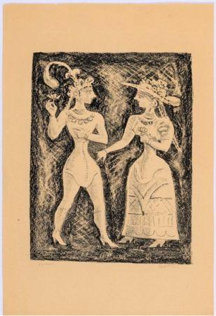 Litografía Campigli - Costumi Cretesi