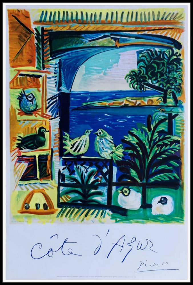 Litografía Picasso - COTE D'AZUR