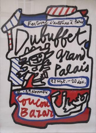 Litografía Dubuffet - Coucou Bazar - Dubuffet Grand Palais 1973 (Geant Sur Arches)