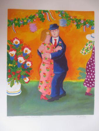 Litografía Jirlow - Couple dansant