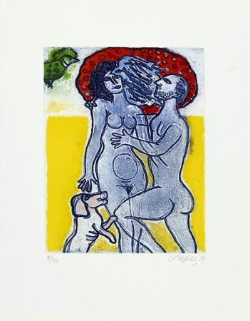 Grabado Corneille - Couple de l'été
