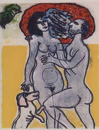 Aguatinta Corneille - Couple de l'ete