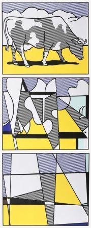 Offset Lichtenstein - Cow Going Abstract
