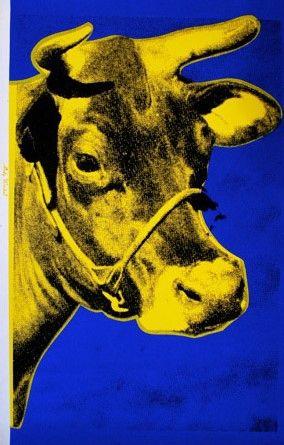 Serigrafía Warhol - Cow (Yellow), 1971/89