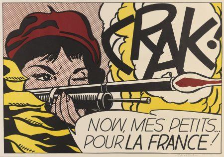 Litografía Lichtenstein - Crak! (Corlett Ii.2.)