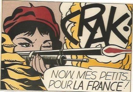 Litografía Lichtenstein - CRAK! Now mes Petits ... pour la France!