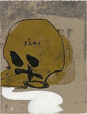 Aguafuerte Y Aguatinta Tàpies - Crani amb xifres