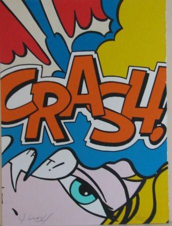 Litografía Matos - Crash Orange