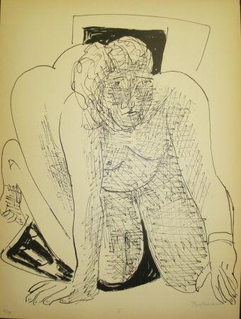 Litografía Beckmann - Crawling Woman