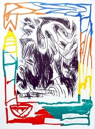 Litografía Alechinsky - Crayon