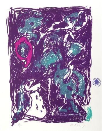 Litografía Alechinsky - Crayon sur coquille - Le rare heureux
