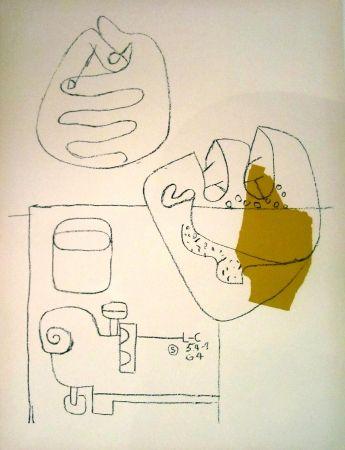 Litografía Le Corbusier - Crossed Hands