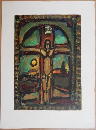 Grabado En Madera Rouault - Crucifixion