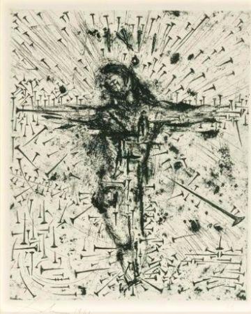 Aguafuerte Dali - Crucifixion, from Apocalypse de Saint Jean