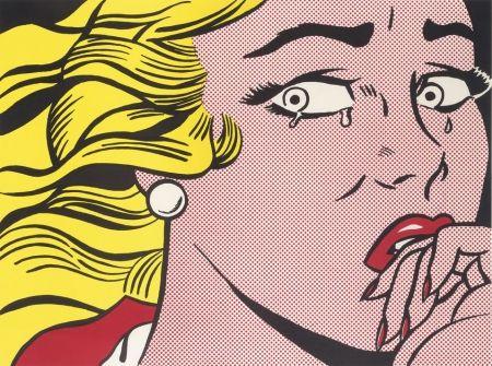 Litografía Lichtenstein - Crying Girl