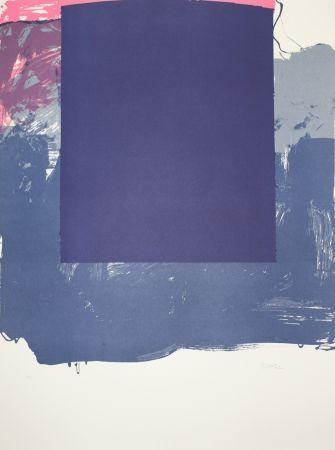 Litografía Borrell Palazón - Cuadrado azul (Blue Square)