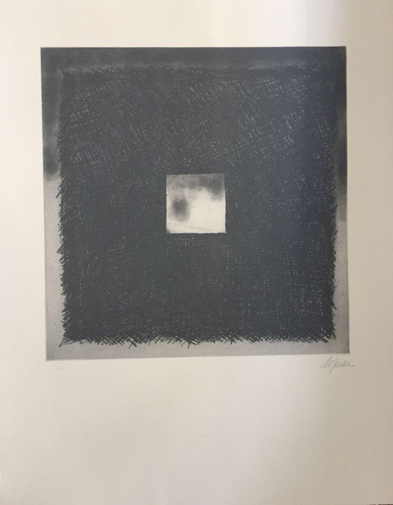Aguafuerte Y Aguatinta De Juan - Cuadrado gris