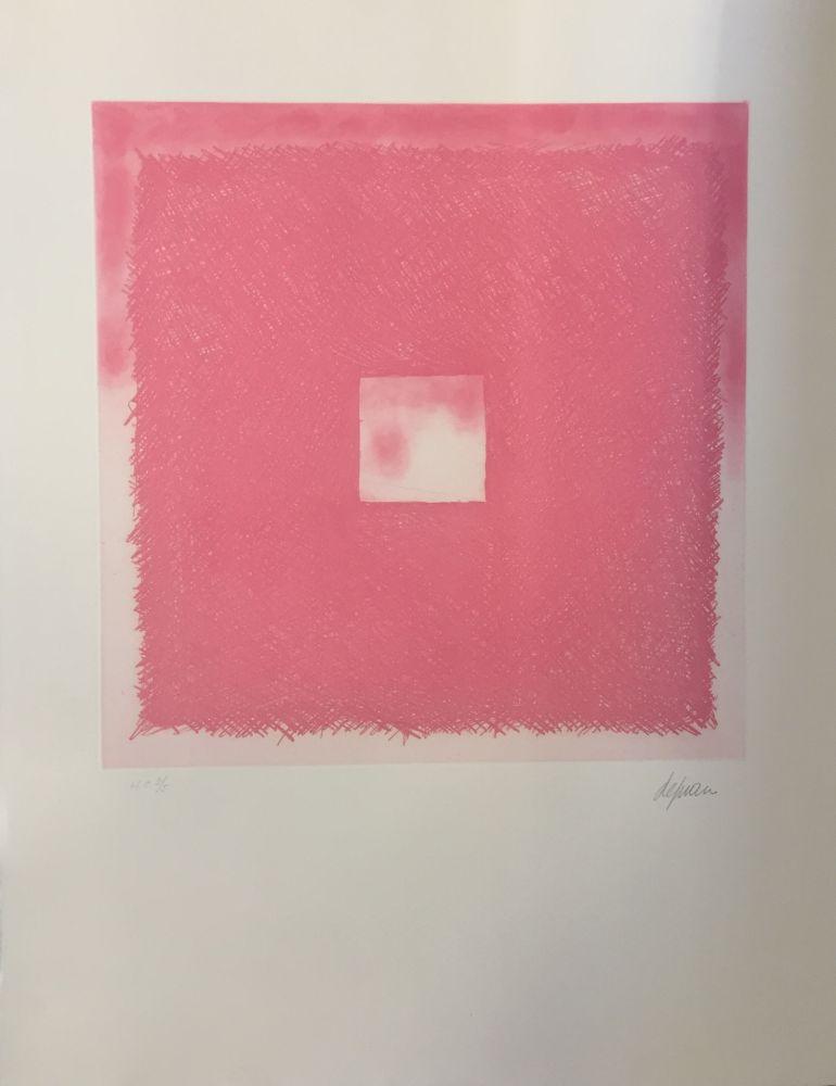 Aguafuerte Y Aguatinta De Juan - Cuadrado rosa