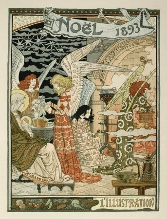 Litografía Grasset - Cuisine des anges / Angels' Kitchen