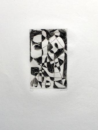 Grabado Lanskoy - DÉDALE. Gravure pour l'affiche de Pierre Lecuire (1960)