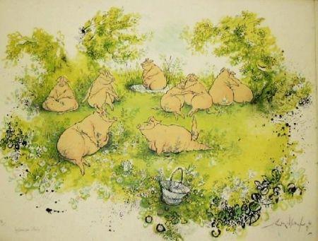 Litografía Searle - Déjeuner sur l'herbe