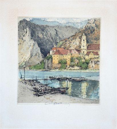 Aguatinta Kasimir - Dürnstein an der Donau